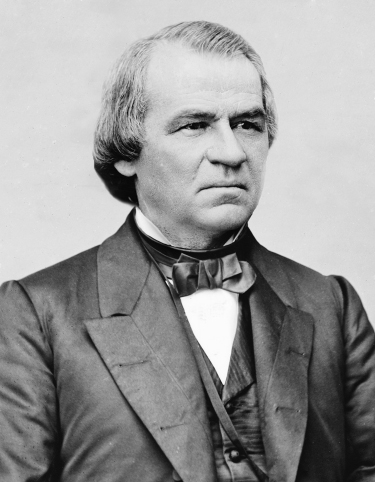 Photograph of Andrew Johnson.