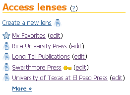 Access lenses.