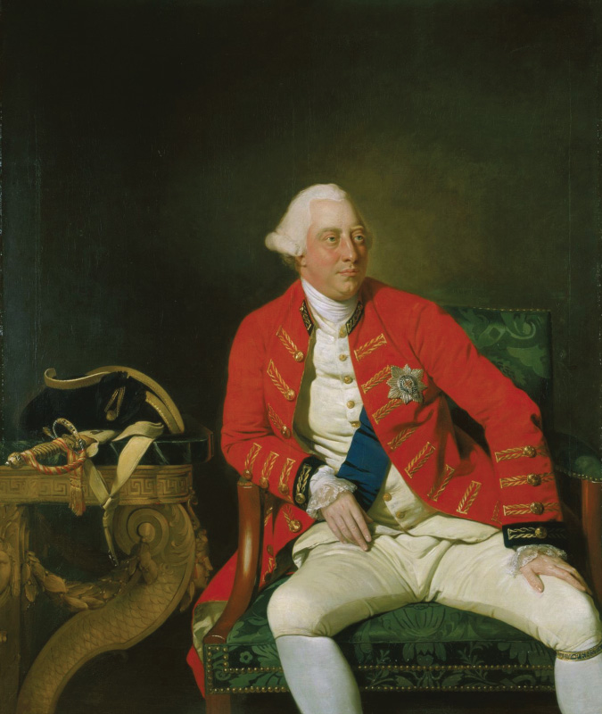 A portrait of King George the third.
