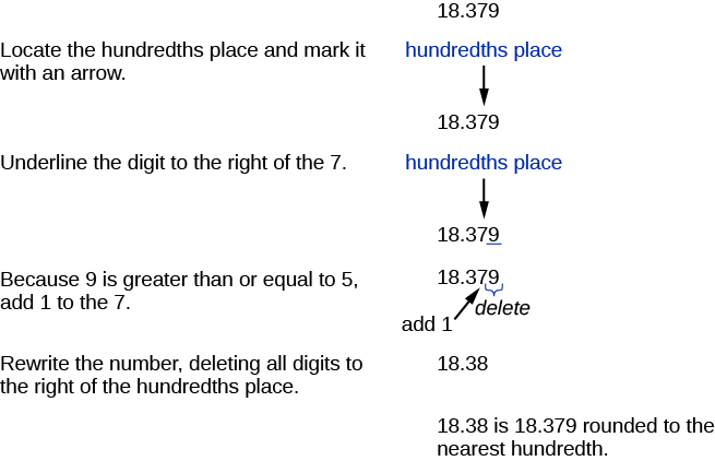 The First Line Says Locate Hundredths Place