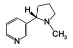 The chemical structure of nicotine