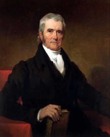 A portrait of John Marshall.