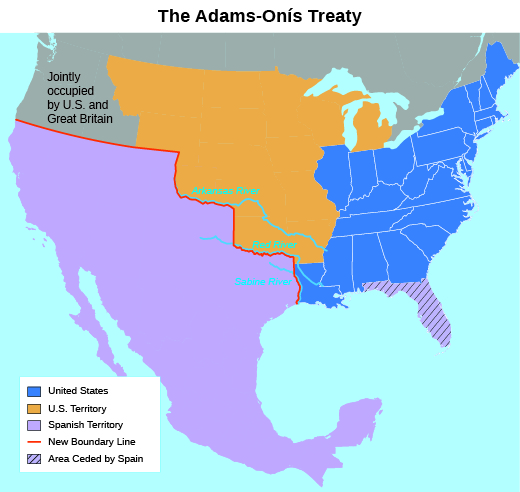 Adams-onis treaty 1819 settle boundaries in dating