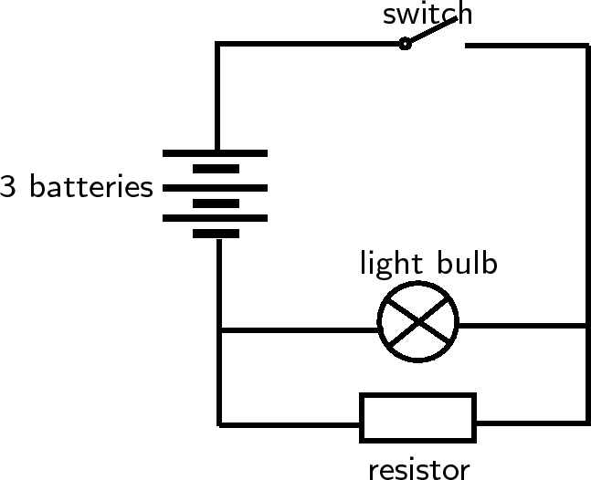 Diagram Of The First Light Bulb Openstax Cnx Electric Circuits Picture