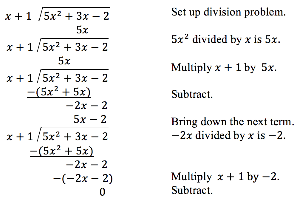 Dividing Polynomials – Long Division of Polynomials Worksheet
