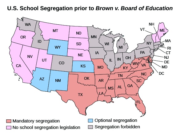 The Civil Rights Movement Gains Momentum Us History I Student Facing - Map-of-segregation-in-us