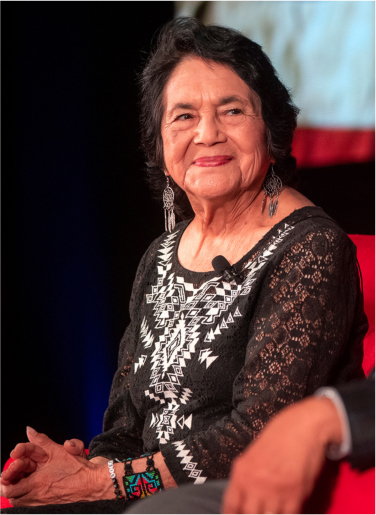 Photograph of Dolores Huerta.