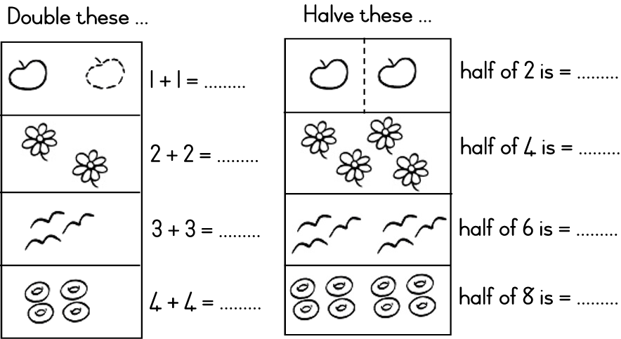 Halving Math Sheets For Year 2 - Halting Time