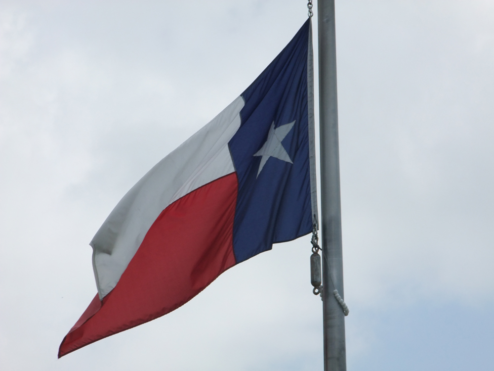 The Texas state flag is shown here.
