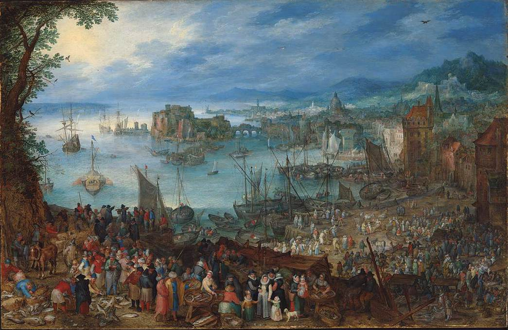 Great Fish Market by Jan Brueghel