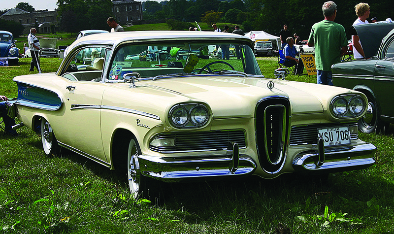 This image shows a Ford Edsel car from 1958.