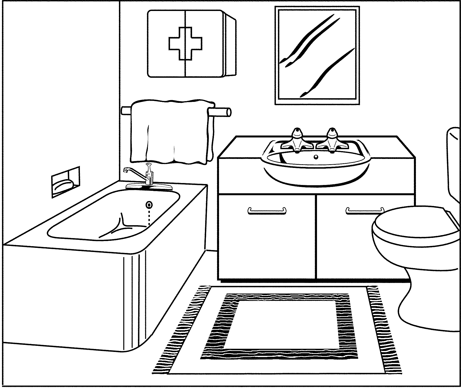 Bathroom section drawing - They First Go To The Bathroom Where Johnny Undressed Himself Last Night There S Nothing On The Floor Except The Bath Mat They Know That The Sandal
