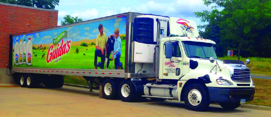 Photo of tractor-trailer truck.