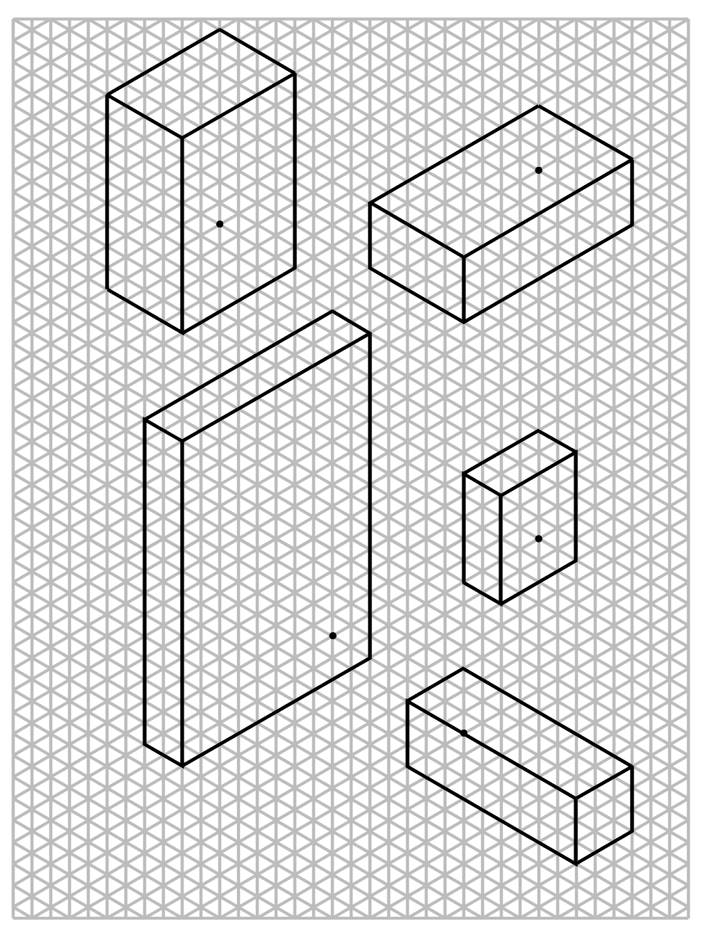 Isometric Sketch Paper An isometric drawing of a