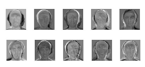 Top Ten Eigenfaces from Rice Database (10rice-eig.jpg)