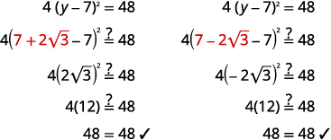 9 1 Solve Quadratic Equations Using the Square Root Property