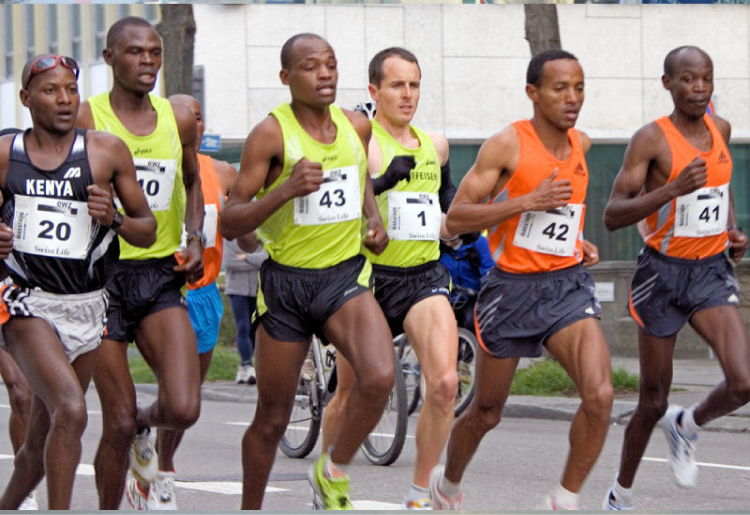 This photograph shows some runners in a race.