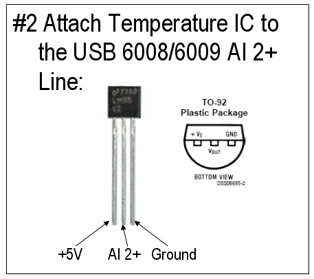 Figure 6: Temperature Sensor Schematic.
