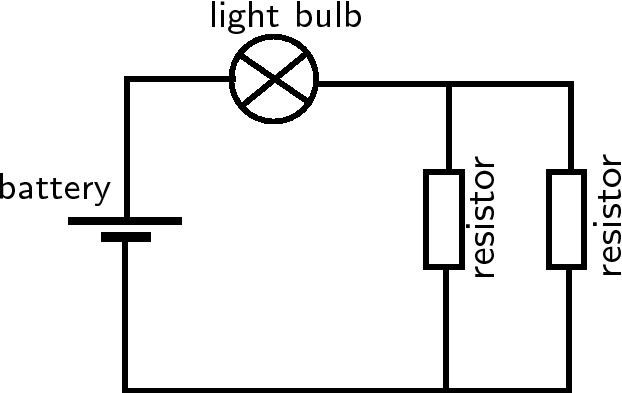 light bulb series and parallel circuits diagram