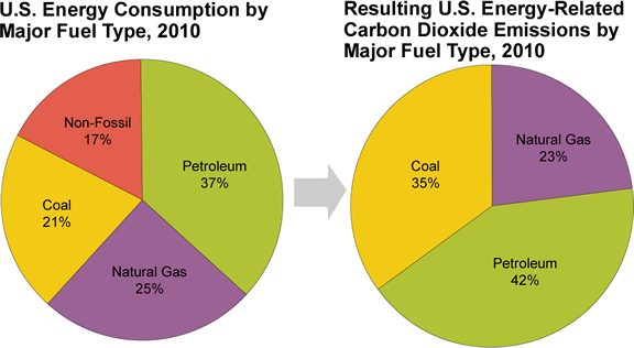 fossil fuel consumption co2 and its Which countries produce the most fossil fuels  fossil fuel production and consumption data are taken from bp's  with its production doubling in the last.