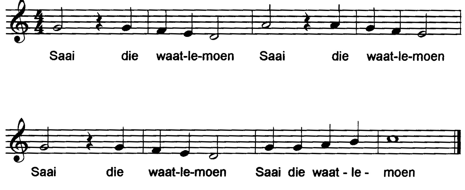 an afrikaans folk song