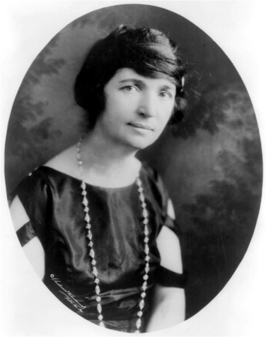 Portrait of Margaret Sanger.