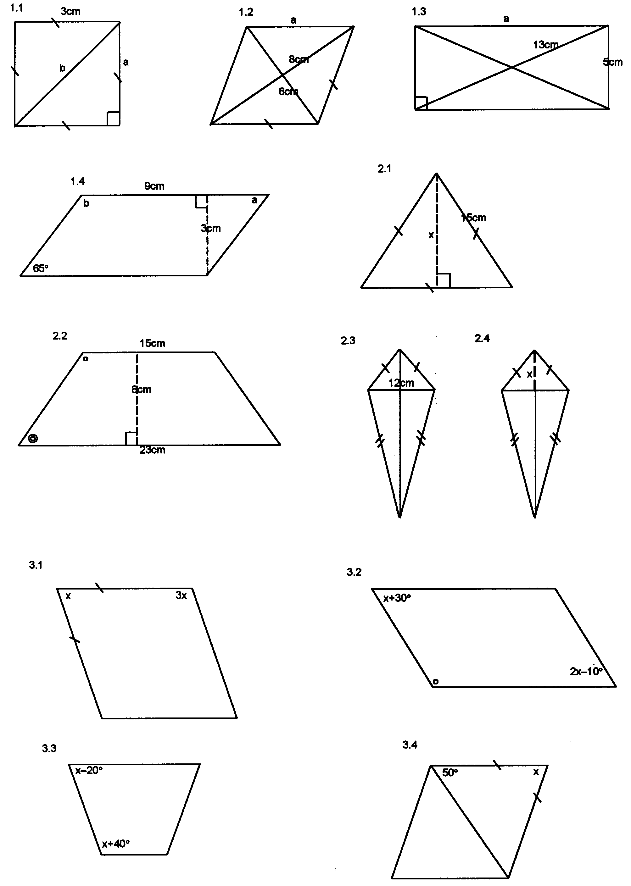 Understanding quadrilaterals and their properties in problems – Properties of Quadrilaterals Worksheet
