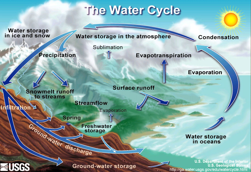 Define Water Cycle The Water Cycle Arrows Depict