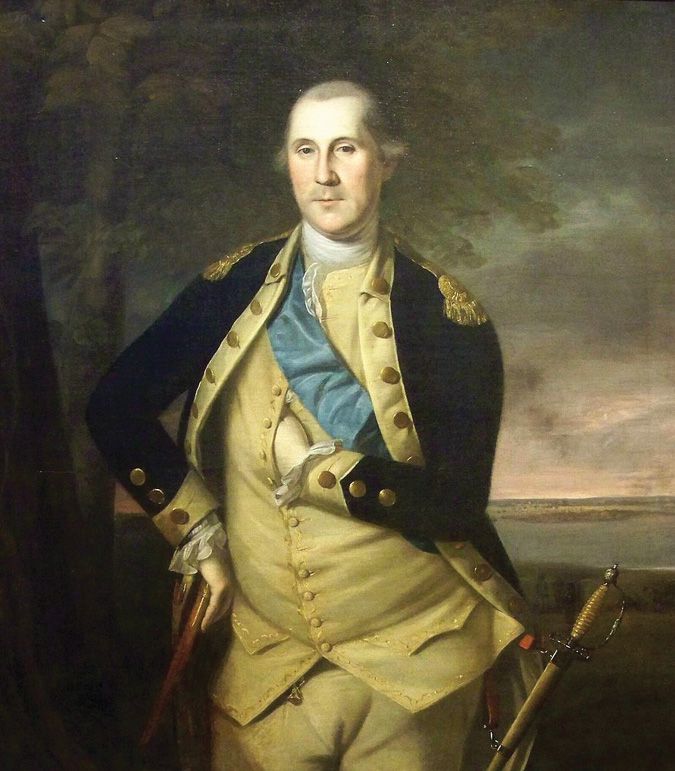 A portrait of George Washington as commander in chief of the Continental Army.