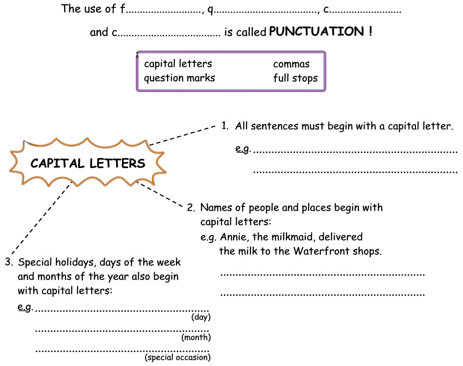 math worksheet : capital letters and full stops worksheets grade 2  worksheets : Worksheets On Capital Letters And Full Stops For Grade 1