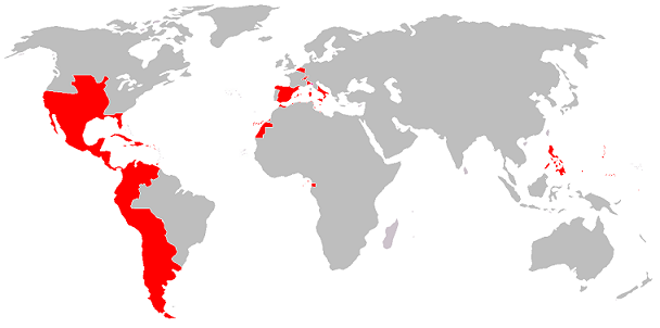Map of Spanish Empire