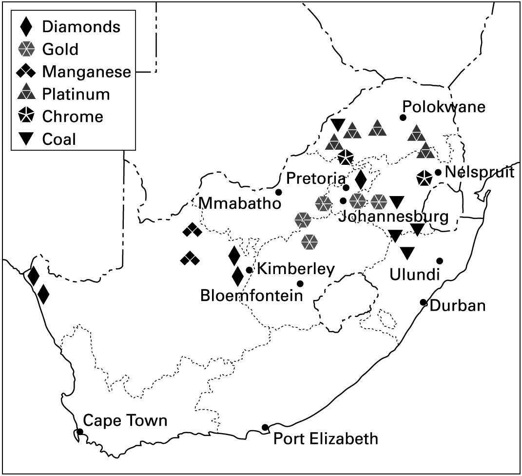 Map Of Gold Mining Areas In South Africa Write a report