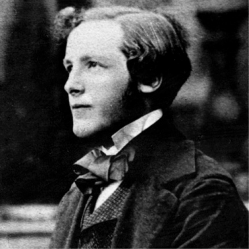 Photograph of James Clerk Maxwell.
