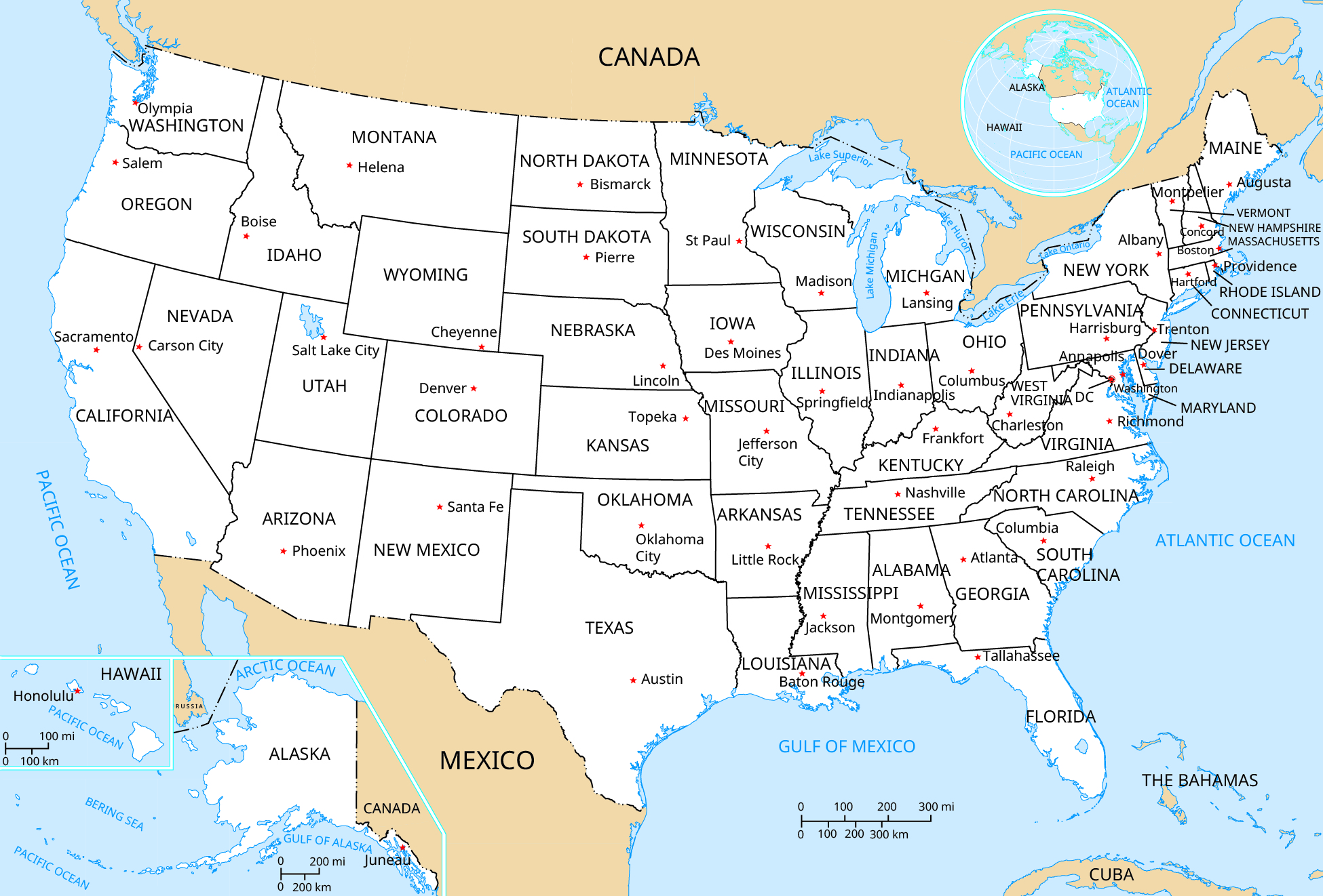 Picture of: Appendix D U S Political Map Life Liberty And The Pursuit Of Happiness Openstax Cnx