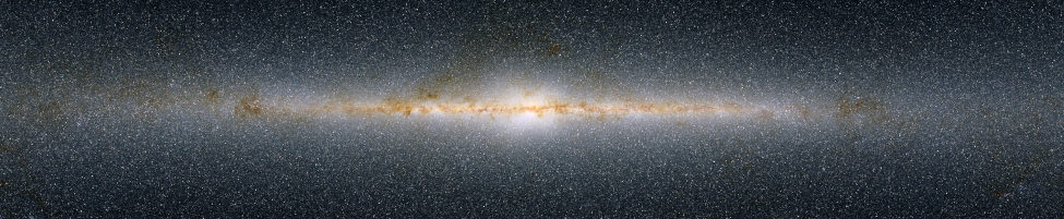 Infrared Image of the Inner Part of the Milky Way Galaxy. This 2MASS image, centered on the central bulge, perfectly illustrates how thin and flat is the disk of our galaxy.