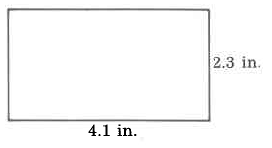 A rectangle with width 4.1in and height 2.3in.